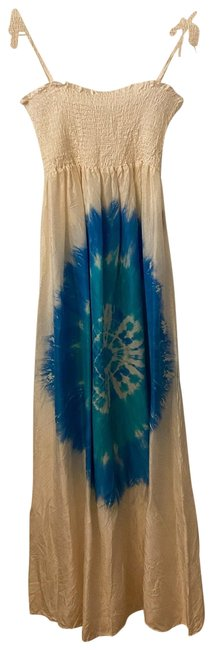 Item - White Tie Dye Bandeau Dress Cover-up/Sarong Size 6 (S)