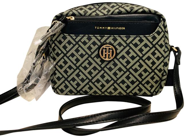 Item - Logo Pouch/Os/Nwt Black/Beige Faux Leather Cross Body Bag