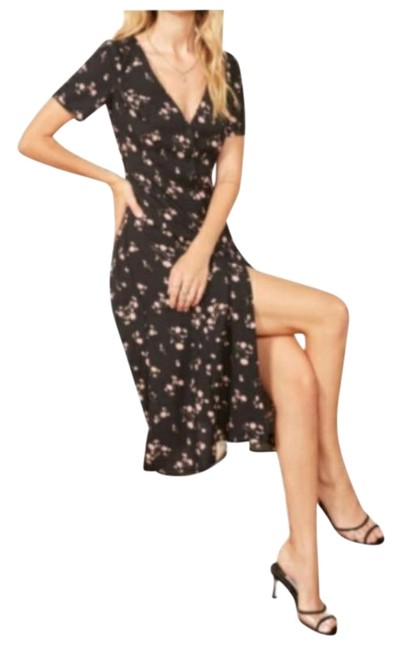 Item - Multicolor Locklin Floral V-neck Nwot Mid-length Night Out Dress Size 2 (XS)