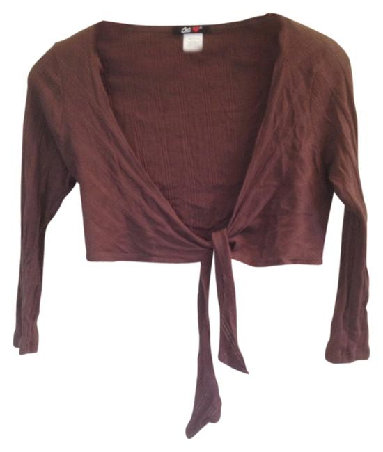 Preload https://item5.tradesy.com/images/brown-cropped-wrap-cardigan-size-2-xs-2794519-0-0.jpg?width=400&height=650