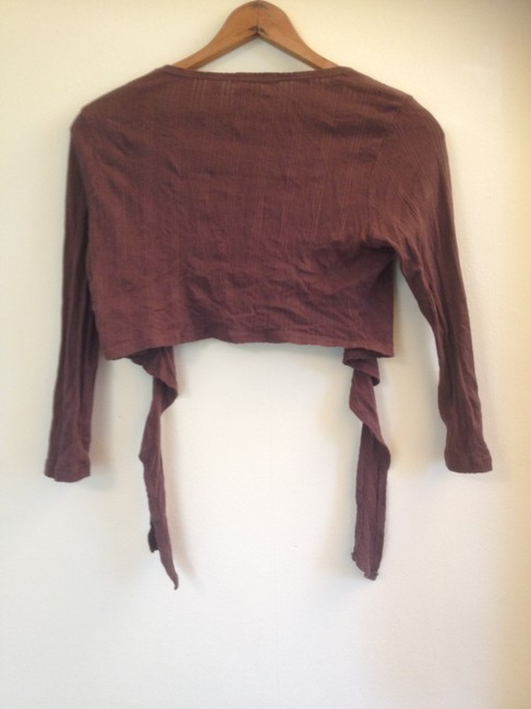 Other Cropped Wrap Cardigan