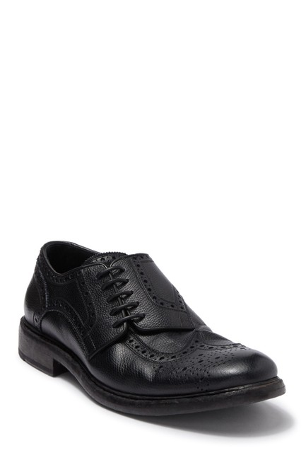 Item - Silver Rayford Wingtip Lace-up Derby Black Leather (Se12) Flats Size EU 40 (Approx. US 10) Regular (M, B)