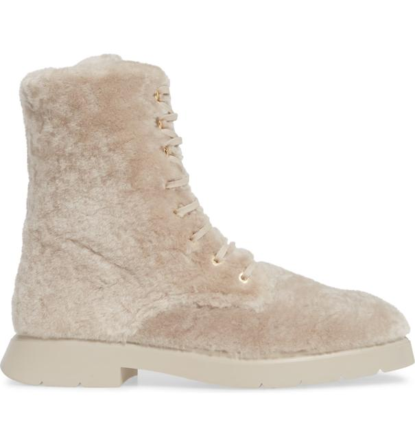 Item - Natural Mckenzee Shearling Combat (Se12) Boots/Booties Size US 9.5 Regular (M, B)