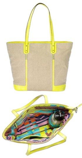 Preload https://item1.tradesy.com/images/stella-and-dot-classic-canvasneon-yellow-canvassaffiano-tote-2794540-0-0.jpg?width=440&height=440