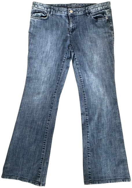 Item - Blue Medium Wash Boot Cut Jeans Size 34 (12, L)