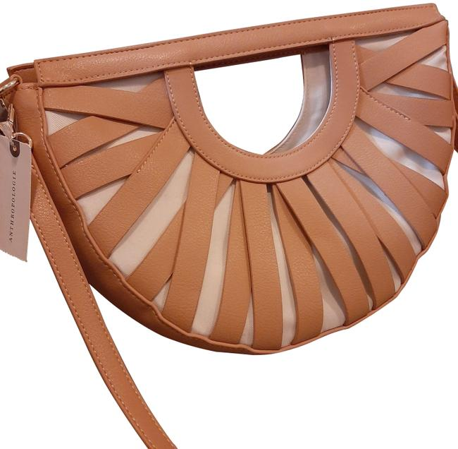 Item - Strappy Tan/White Leather Baguette