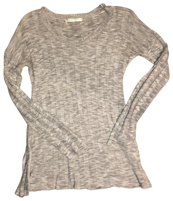 Item - Gray Soft Knit Pullover Tunic Size 2 (XS)