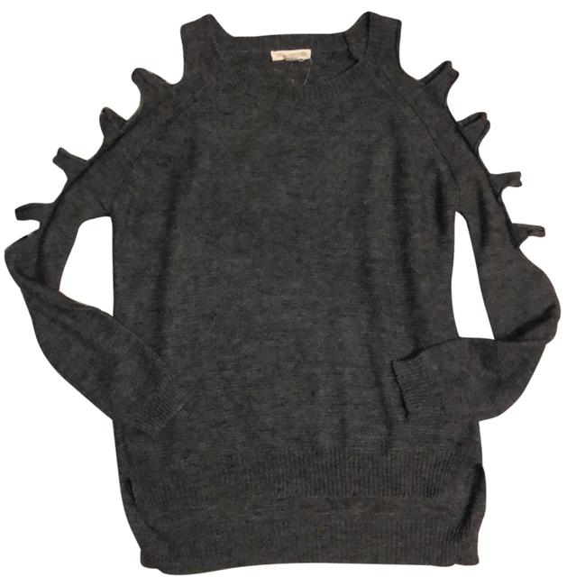 Item - Cut Out Sleeves Gray Sweater