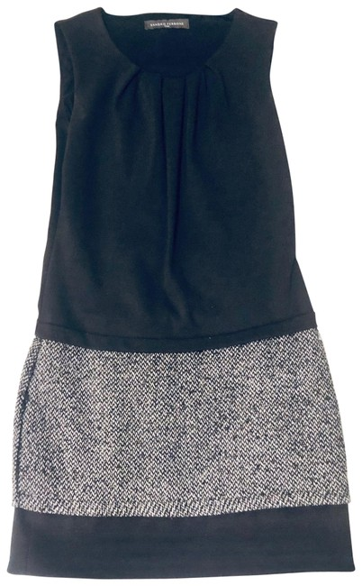 Item - Black Shift Attached Wool Skirt Short Work/Office Dress Size 4 (S)