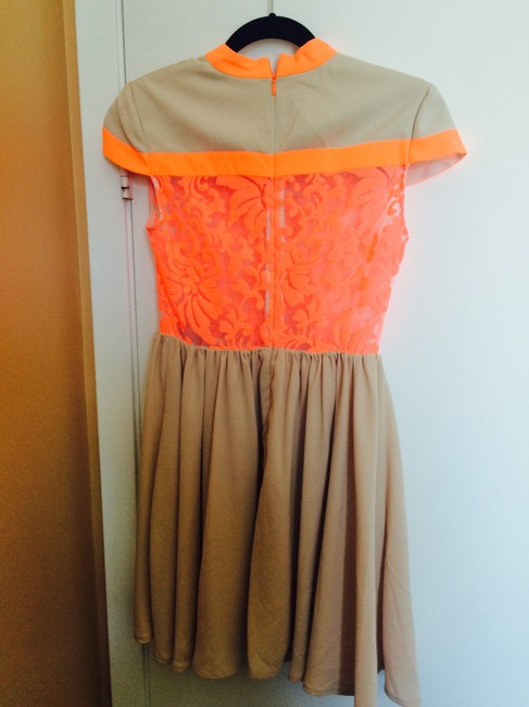 Other Sheer Lace Orange Dress
