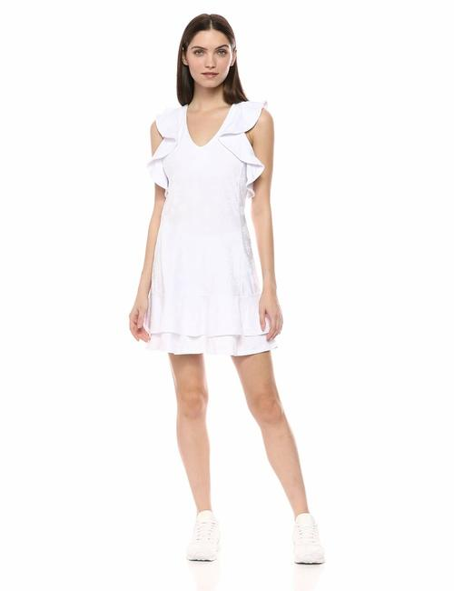 Item - White Luxletic Rally Upf 50 Dress Ruffle Activewear Sportswear Size 8 (M, 29, 30)