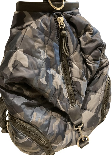 Item - Army Blue and Gray and Black Camo Nylon Backpack