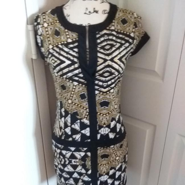 Item - Black White and Gold Daly Short Casual Dress Size 0 (XS)