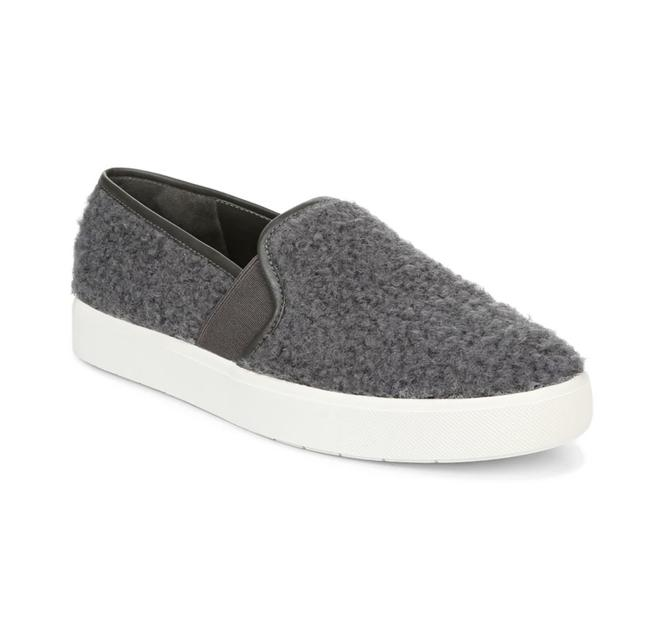 Item - Gray Blair Faux Shearling Slip-on Sneaker Flats Size US 7 Regular (M, B)