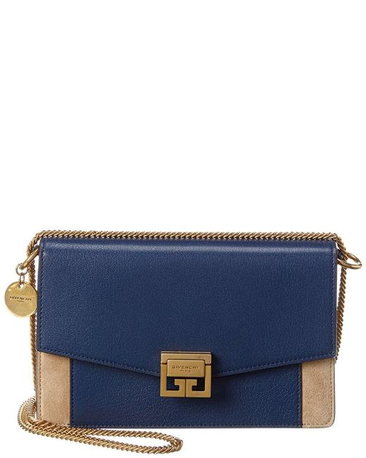 Givenchy Crossbody Gv3 Mini Suede Blue Leather Shoulder Bag Givenchy Crossbody Gv3 Mini Suede Blue Leather Shoulder Bag Image 1