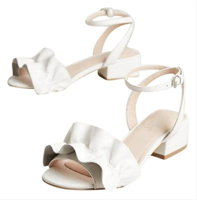 Anthropologie White Denaira Block Sandals Size US 7 Regular (M, B) Anthropologie White Denaira Block Sandals Size US 7 Regular (M, B) Image 1