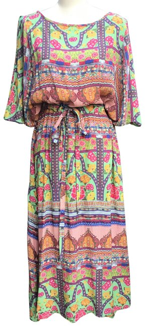 Uncle Frank Multicolor Nwot Long Casual Maxi Dress Size 12 (L) Uncle Frank Multicolor Nwot Long Casual Maxi Dress Size 12 (L) Image 1