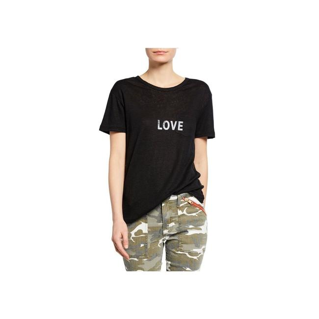 Preload https://img-static.tradesy.com/item/27947597/zadig-and-voltaire-black-amber-bis-lin-love-tee-blouse-size-0-xs-0-0-650-650.jpg