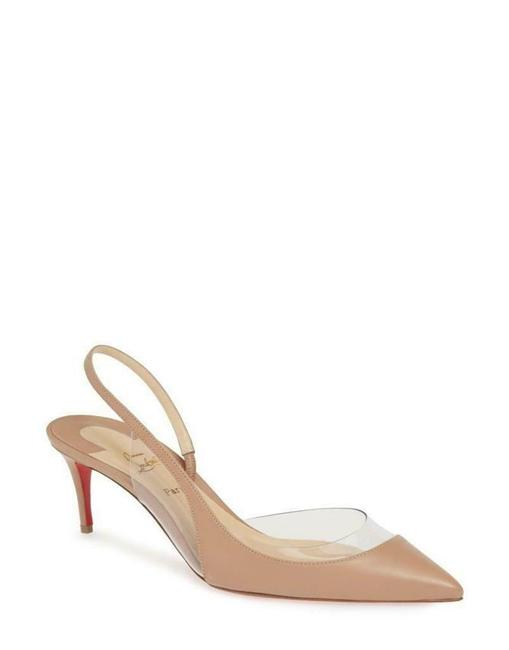 Christian Louboutin Nude Optisexy 70 Pvc Leather Slingback Heels Pumps Sandals Size EU 38.5 (Approx. US 8.5) Regular (M, B) Christian Louboutin Nude Optisexy 70 Pvc Leather Slingback Heels Pumps Sandals Size EU 38.5 (Approx. US 8.5) Regular (M, B) Image 1