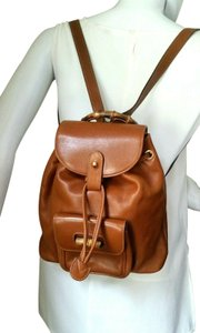 Gucci Bamboo Vintage Leather Backpack