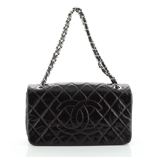 Chanel Classic Flap Timeless Cc Quilted Glazed Calfskin Medium Black Leather Satchel Chanel Classic Flap Timeless Cc Quilted Glazed Calfskin Medium Black Leather Satchel Image 1