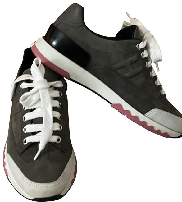 Hermès Grey Pink and White Trail Sneakers Size US 5 Regular (M, B) Hermès Grey Pink and White Trail Sneakers Size US 5 Regular (M, B) Image 1