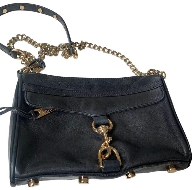 Rebecca Minkoff Bladk Leather and Gold Hardware Cross Body Bag Rebecca Minkoff Bladk Leather and Gold Hardware Cross Body Bag Image 1