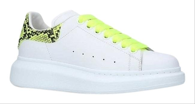 Alexander McQueen Runway Neon Python-embossed Leather Trainers Sneakers Flats Size EU 39.5 (Approx. US 9.5) Regular (M, B) Alexander McQueen Runway Neon Python-embossed Leather Trainers Sneakers Flats Size EU 39.5 (Approx. US 9.5) Regular (M, B) Image 1
