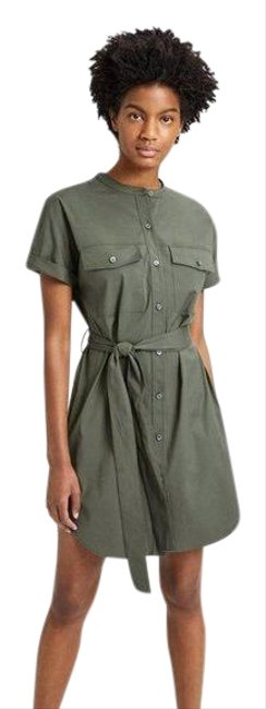 Item - Green Cargo Utility Button Down Short Casual Dress Size 8 (M)