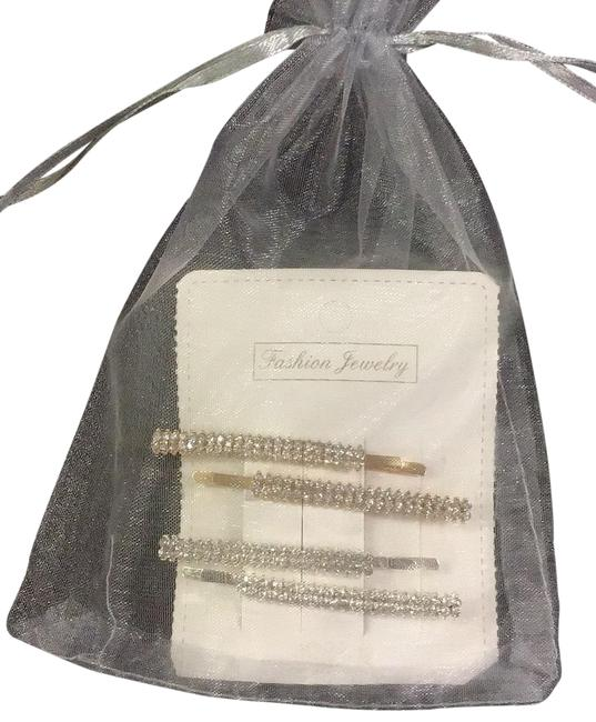 Item - Silver & Gold Crystal Bobby-pins Hair Accessory