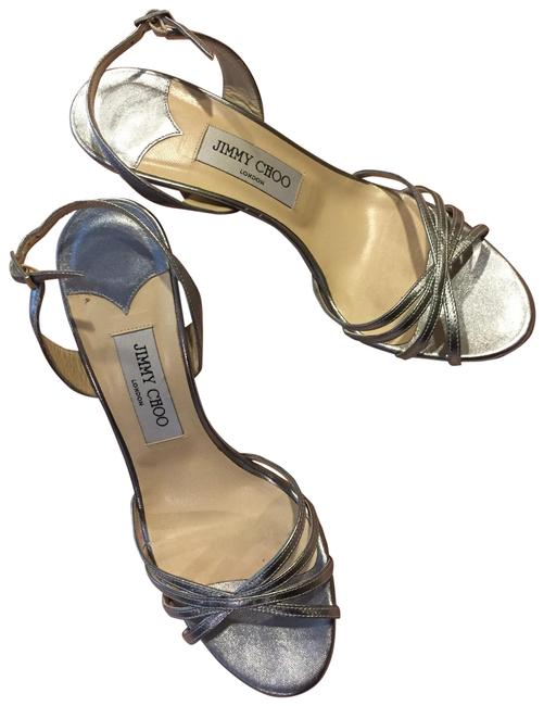 Item - Silver Shiny Party Formal Shoes Size US 8.5 Regular (M, B)