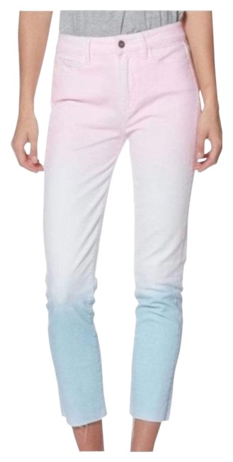 Paige Pink/White/Blue Skinny Jeans Size 10 (M, 31) Paige Pink/White/Blue Skinny Jeans Size 10 (M, 31) Image 1
