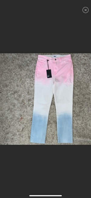 Paige Pink/White/Blue Skinny Jeans Size 10 (M, 31) Paige Pink/White/Blue Skinny Jeans Size 10 (M, 31) Image 2