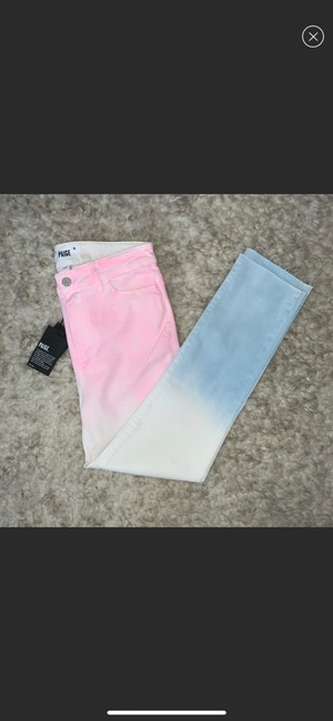 Paige Pink/White/Blue Skinny Jeans Size 10 (M, 31) Paige Pink/White/Blue Skinny Jeans Size 10 (M, 31) Image 3