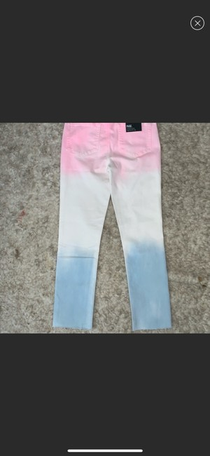 Paige Pink/White/Blue Skinny Jeans Size 10 (M, 31) Paige Pink/White/Blue Skinny Jeans Size 10 (M, 31) Image 4