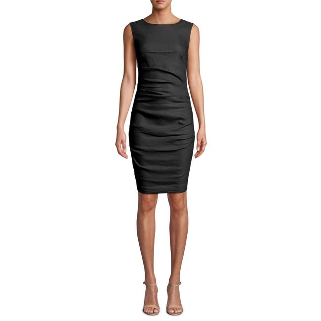 Item - Black Lauren Ruched Sleeveless Crepe Short Night Out Dress Size 10 (M)