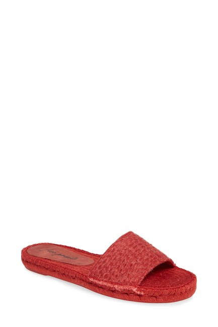 Item - Red Beach Front Esadrille Slide Sandals Size US 6 Regular (M, B)