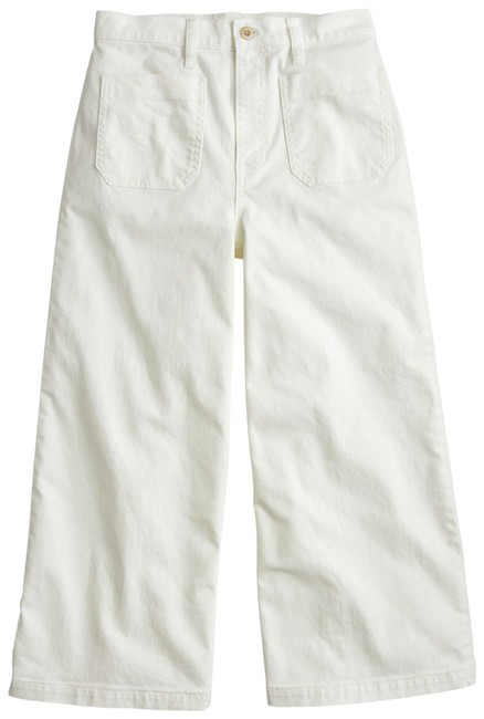 Item - Off White Light Wash Wide Leg Crop In Capri/Cropped Jeans Size 20 (Plus 1x)