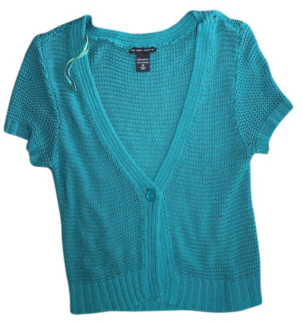 Preload https://item1.tradesy.com/images/new-york-and-company-knit-cardigan-teal-2794885-0-0.jpg?width=400&height=650