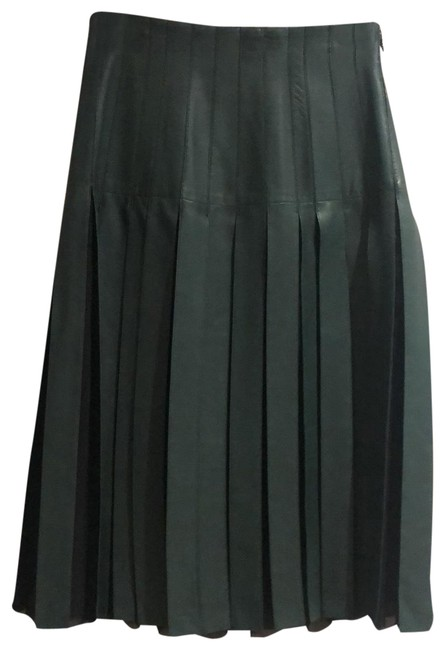 Item - Green and Black Leather Skirt Size 10 (M, 31)