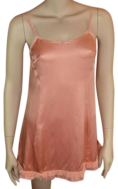 Item - Pink St9057 Silk Washed Sleeveless Bow Camisole 38 Italy Tank Top/Cami Size 0 (XS)