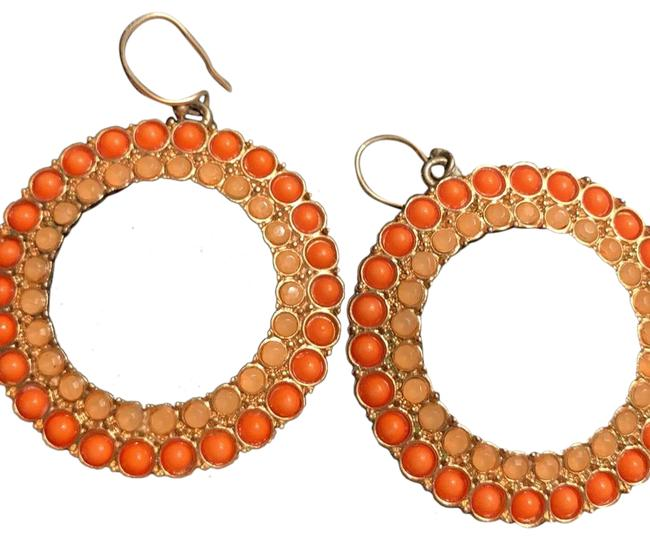 Item - Orange and Gold Circle Earrings