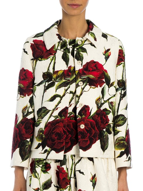Item - Red Black and White Roses Collection Jacket Size 6 (S)