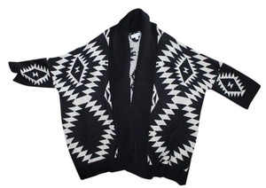 Active Basic Aztec Oversized Cardigan