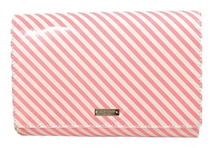 Kate Spade Holiday Party Neon Pink Stripe Clutch