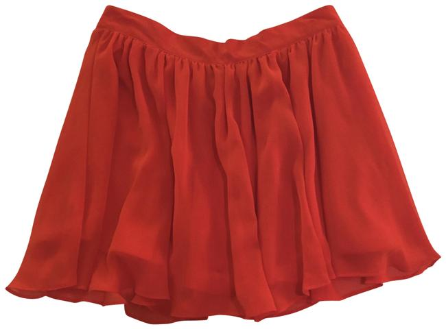 Item - Orange Flowy Skirt Size 4 (S, 27)