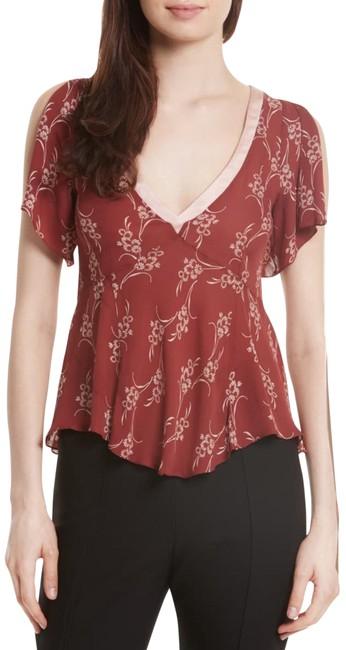 Item - Red Whitley Blouse Size 4 (S)