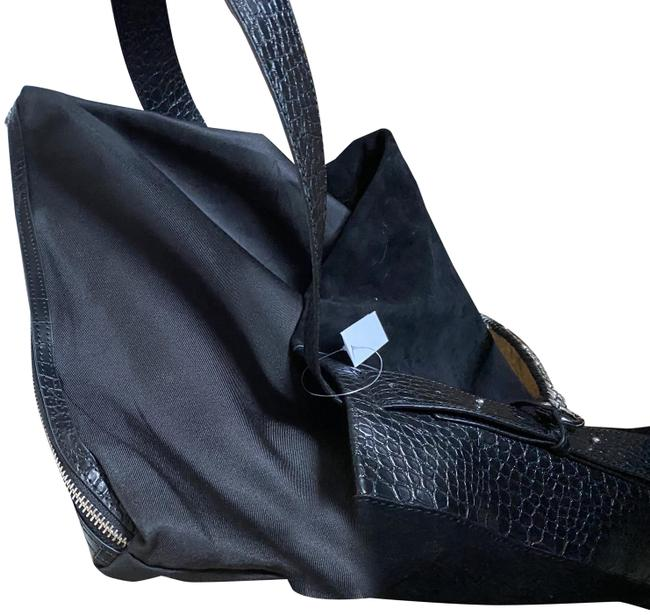 Item - And Black Suede Leather Hobo Bag