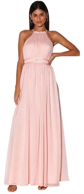 Item - Light Pink Exclusive Every Magic Moment Halter Backless Maxi Long Cocktail Dress Size 8 (M)