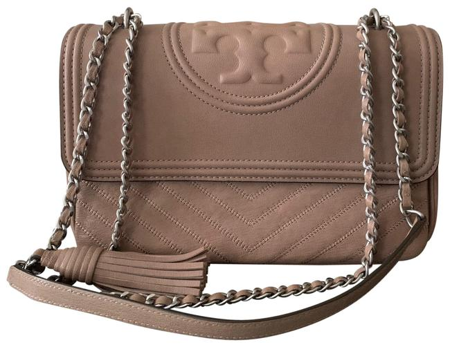 Item - Fleming Flap Distressed Dust Pink Leather Cross Body Bag
